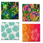 Tropical Leaves Flower Print Waterproof Ceramic Decor Wall Tile/Table Coaster~BN