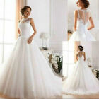 2017 New White/ivory Wedding dress Bridal Gown Stock Size : 6-8-10-12-14-16