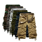 6 Colors Men Summer Army Camo Camouflage Work Cargo Shorts Pants Trousers Slacks