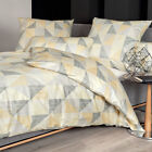 Janine Mako Satin Bettwäsche Messina Design 43024-03 mineralgelb ecru gestreift