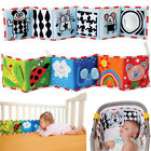 Baby Mobile Cloth Book Crib Bed Around Soft Plush Early Educational Cot Book AB