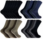 Mens 6 Pack Thick Heavy Knit Winter WB Warm Thermal Wool Blend Hiking Boot Socks