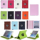 Leather 360 Rotating Smart Stand Hard Case Cover For iPad 1 2 3 4 Mini Air Pro