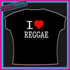 I LOVE HEART REGGAE MUSIC TSHIRT