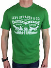 Levis Mens S/S 2 Horse Graphic T-Shirt in Green