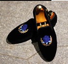 Mens slip on loafers driving Embroidery casual business formal causal shoes