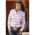 CTW7077001 Cinch Women's Long Sleeve Arena Fit Red Print Western Shirt NEW