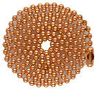 Copper Ball Chains for Military Dog Tags, Bag of 100