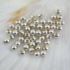 Wholesale Bright solid 925 Sterling Silver Seamless Round Beads Spacer 2mm/3mm