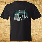 New Peterbilt Truck  Men's Black T-Shirt Size S-3XL 100% Cotton