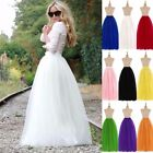 6 Layers 100cm Long Women Tulle Skirts Wedding Bridal Skirt Ball Gown TUTU Skirt