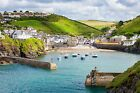 Port Isaac Cornwall Sea Cornish Town Canvas Pictures Wall Art Prints All Sizes