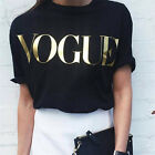 Women Summer Short Sleeve T-shirts Cotton Letter Printed Tops Tee Blouse fo