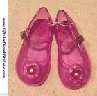 Old Navy NWT Pink GLITTER JELLY FLOWER DRESS MARY JANE SANDALS SHOES US 5 6 7 8
