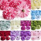 20pcs Ball Daisy Gerbera Artificial Flower Heads Bulk 50mm Wedding Favor OBSHS20