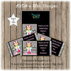 SCIENCE GIRLS BIRTHDAY PARTY PERSONALISED CHOCOLATE WRAPPERS X 10