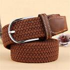 Men's Leather Elastic Braided Stretch Pin Buckle Fitness Men's Accessories Belts