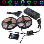 5M 10M 3528 RGB LED Strip Lights Tape + Remote Music Controller IR + 12V Power