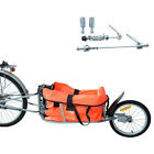 Steel Bicycle Bike Cargo luggage Trailer One Wheel Cart Carrier For Shopping New