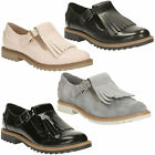 GRIFFIN MIA LADIES CLARKS FRINGE DETAIL BUCKLE FASTEN WORK FLAT CASUAL SHOES