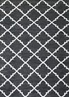 NEW Black & White Le Kef Handmade Rug