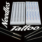 50pcs Sterile Tattoo Needles Steel Round Liner Shader Varied 33 Sizes Supplies w
