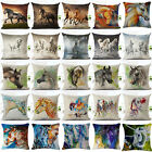 18 inch Watercolor Horse Sofa Cushion Cover Pillow Case Home Car Decor Eager