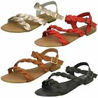 Ladies Savannah Flat Buckle Sandals - F00061