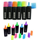 Highlighter Pens Markers Yellow Pink Orange Green Blue Lilac Quality Eco