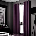 2 ADAM Purple Greek Thermal Sunlight Blocking Blackout Window Curtain Panels