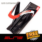 Elite Custom Race Water Bottle Cage Bike- Black Red
