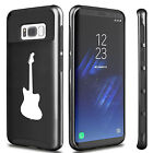 For Samsung Galaxy S6 S7 Edge S8 + Dual Shockproof Hard Case Cover Bass Guitar