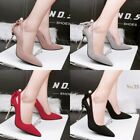 Pointed Toe Pump Hollow Out High Heel Pearl Stiletto Work OL Simple Womens Shoes
