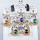 Women Exquisite Jewelry Crystal Fox Pendant Necklace Long Chain Sweater Necklace