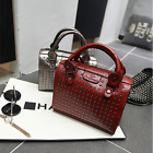 Women Rivet PU Leather Shoulder Satchel Tote Messenger Handbag Crossbody Bag