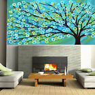 Art Painting Tree Forest Blossom aqua Flower Abstract Canvas Australia by Pepe