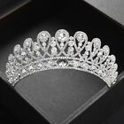 Vogue Wedding Bride Crystal Silver Crown Tiaras Hair Accessoriess Prom Jewelry