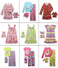 Girls Nightgown Pajamas Matching American Doll Outfit Set 4-6-8 Dollie & Me NEW