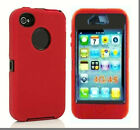 3in1 Hybrid Rugged TPU+PC Case Cover+Built-in Screen Protector For iPhone 4/4s