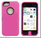 3 in1 Hybrid Rugged TPU+PC Defender Case Cover+Built-in Screen For iPhone 5C