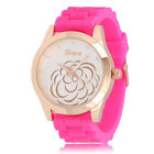 Womans Watches Quartz Jelly Silicone Analog Sports New Ladies Rose Wrist Watch