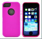 3 in1 Hybrid Rugged TPU+PC Defender Case Cover+Built-in Screen For iPhone 5/5s