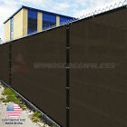 Customize 5' Privacy Screen Fence Brown Commercial Windscreen Shade Cover 1-160'