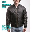 MENS MA-1 Bomber Jacket Flight Coat Air Force Military Heavy Warm Jacket Zipper