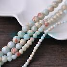 4mm 6mm 8mm 10mm Natural Light Blue Imperial Jasper Round Loose Beads Wholesale