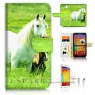 Samsung Galaxy Note 3 Wallet Case Cover AJ20202 White Horse