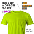 3 PACK MENS CASUAL POCKET T SHIRT PLAIN SHORT SLEEVE SHIRTS POCKET TEE COMFY image