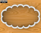 Scalloped Oval Vintage Plaque Frame  Cookie Cutter, Selectable sizes