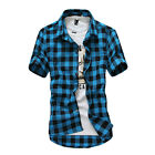 Men's Blouse Fashion Shirt Hombres Camisa Hombres Ropa Short Sleeve Shirt Cc