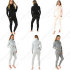 WOMENS LADIES MEGAN MCKENNA TOP & BOTTOM LOUNGEWEAR CO ORD SET HOODED TRACKSUIT